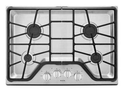 """30"""" Maytag 4-Burner Gas Cooktop With Power Burner - MGC7430DS"""