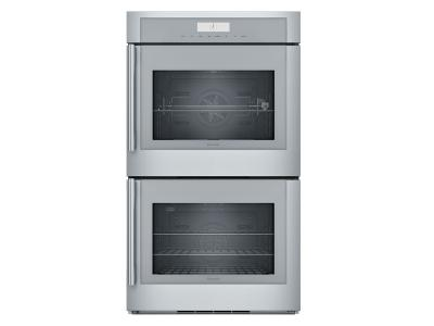 """30"""" Thermador Masterpiece  Series Double Wall Oven, Right-Side Swing Door - MED302RWS"""