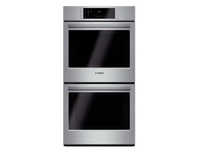 """27"""" Bosch Double Wall Oven 800 Series - Stainless Steel HBN8651UC"""