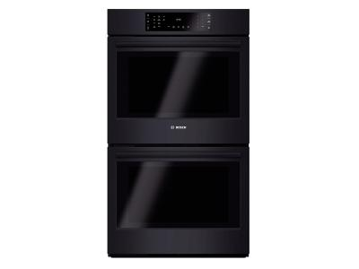 """30"""" Bosch Double Wall Oven 800 Series - Black HBL8661UC"""