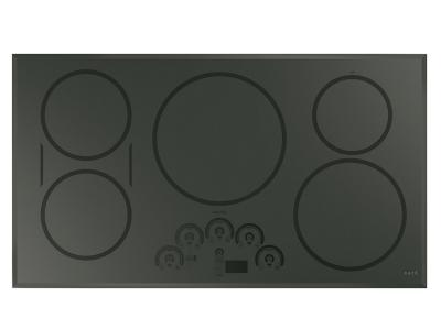 """36"""" GE Cafe Built-In Touch Control Induction Cooktop - CHP95362MSS"""